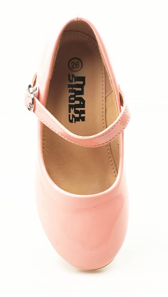 Meisjesschoenen Meisjesschoen - Pumps - lak - roze