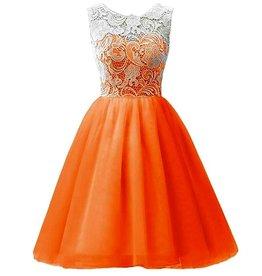 Meisjeskleding Feestjurk Julia - oranje