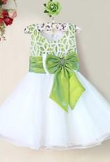 Meisjeskleding Meisjes Feestjurk Zara - wit / groen
