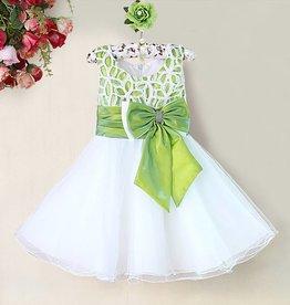 Meisjeskleding Feestjurk Zara - wit / groen