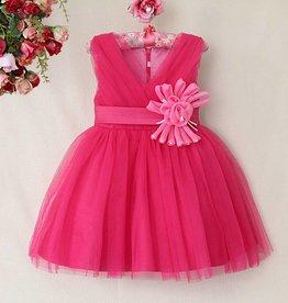 Meisjeskleding Feestjurk Melanie - donkerroze (fuchsia)