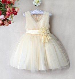 Meisjeskleding Feestjurk Melanie - ivoor / geel