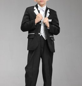 Jongenskleding Jongenskostuum Thomas - zwart / zilver