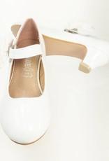Meisjesschoenen Meisjesschoen - Pumps - lak - wit - bloem