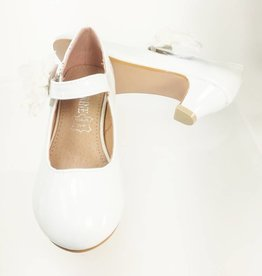Meisjesschoenen Spaanse schoentjes - lak - wit - bloem