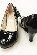 Meisjesschoenen Meisjesschoen - Pumps - lak - zwart - strikje