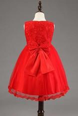 Meisjeskleding Meisjes Feestjurk Lena - rood