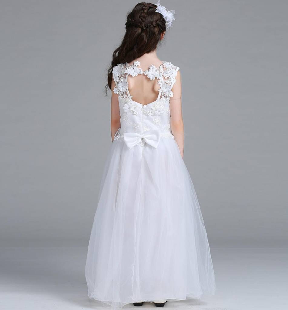 Meisjeskleding Meisjes Feestjurk Chloë - wit