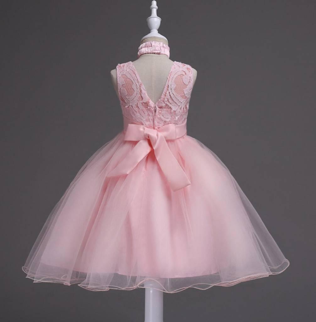 Meisjeskleding Meisjes Feestjurk Jill - roze