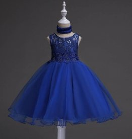 Meisjeskleding Feestjurk Jill - blauw (koningsblauw)