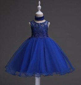 Meisjeskleding Feestjurk Jill - donkerblauw
