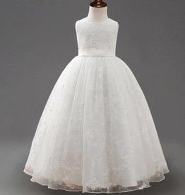 Meisjeskleding Feestjurk Chantal - wit