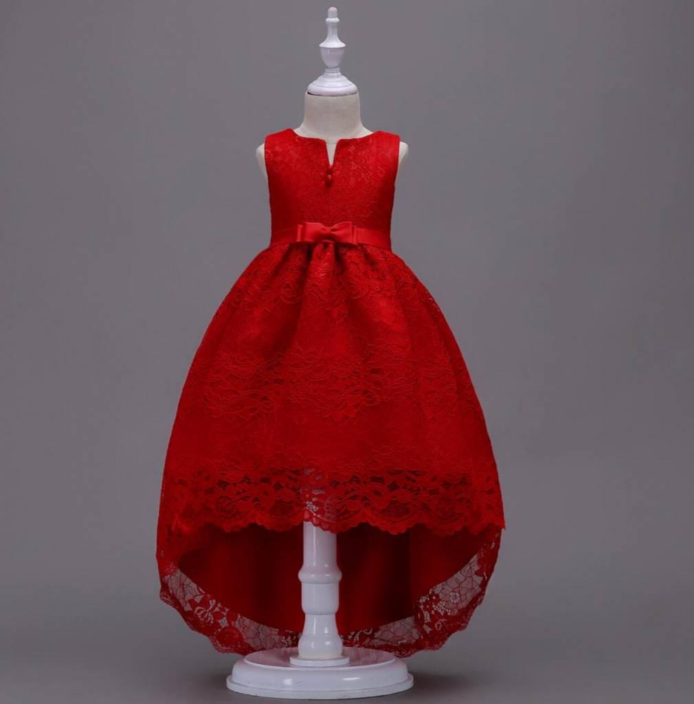 Meisjeskleding Meisjes Feestjurk Jessie - rood