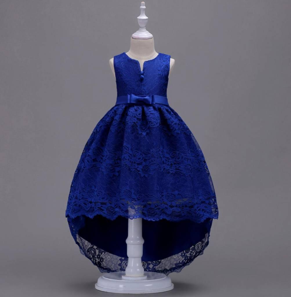 Meisjeskleding Meisjes Feestjurk Jessie - blauw