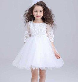 Meisjeskleding Feestjurk Ava - wit