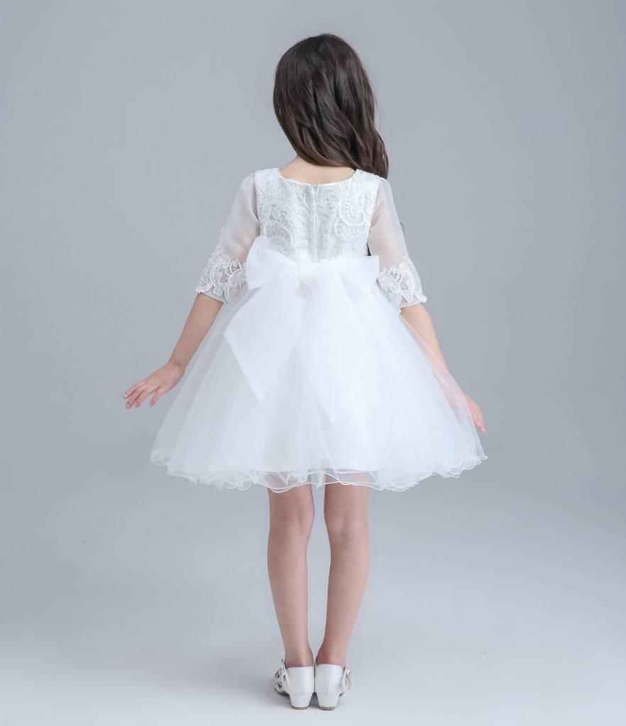 Meisjeskleding Meisjes Feestjurk Ava - wit