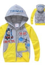 Jongenskleding Thomas en vrienden Jongens Sweatvest - grijs / geel