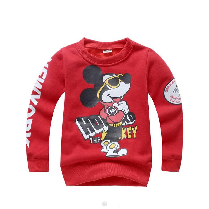 Jongenskleding Mickey Mouse Jongens Sweater - rood