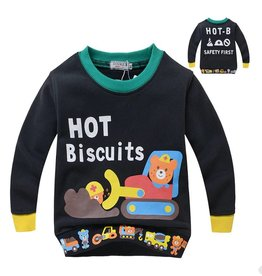 Jongenskleding Hot Biscuits Beertjes Sweater - zwart