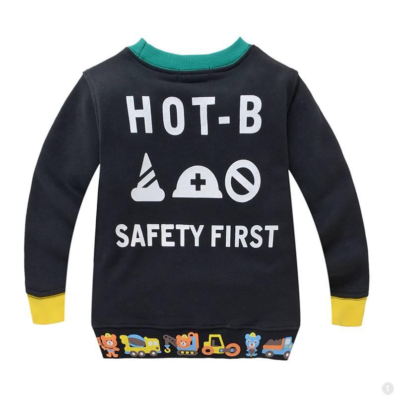 Jongenskleding Hot Biscuits Beertjes Jongens Sweater - zwart
