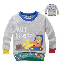 Jongenskleding Hot Biscuits Beertjes Sweater - grijs