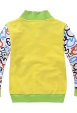 Jongenskleding Diertjes Jongens Sweatvest - geel