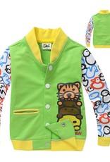 Jongenskleding Diertjes Jongens Sweatvest - groen