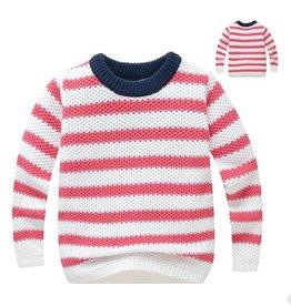 Meisjeskleding Gebreide Trui - rode strepen