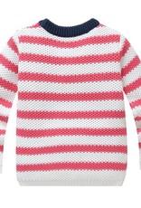 Meisjeskleding Meisjes Trui Gebreid - rode strepen