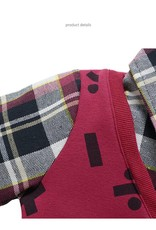 Jongenskleding Jongens Sweater Vest met lange mouwen en wiskundige symbolen - bordeauxrood