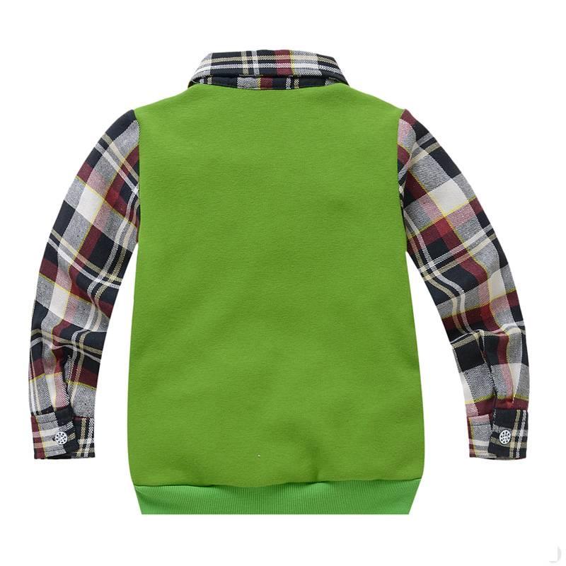 Jongenskleding Jongens Sweater Vest met lange mouwen en wiskundige symbolen - groen