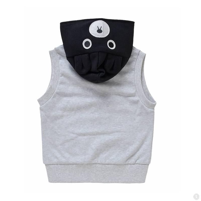 Meisjeskleding Beertje Meisjes Sweatvest - mouwloos - grijs