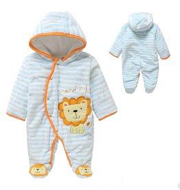 Babykleding Leeuwtje Boxpakje met capuchon - blauw