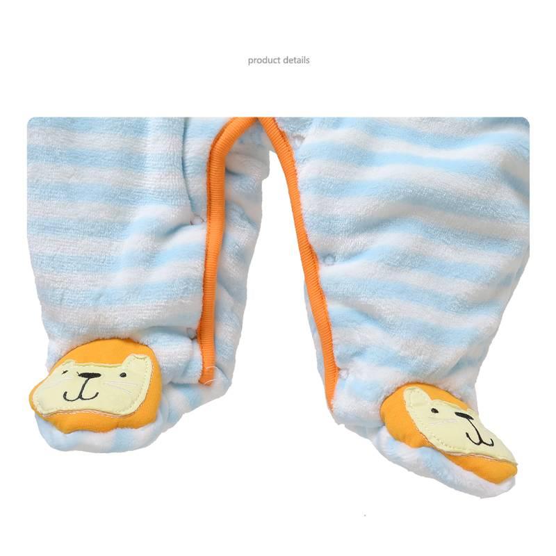 Babykleding Leeuwtje Jongens Boxpakje met capuchon - blauw