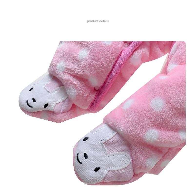 Babykleding Konijntje Meisjes Boxpakje met capuchon - roze