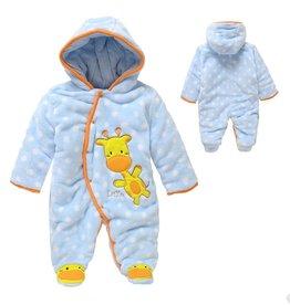 Babykleding Girafje Boxpakje met capuchon - blauw