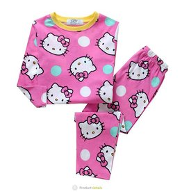 Meisjespyjama's Hello Kitty Pyjama - roze / geel