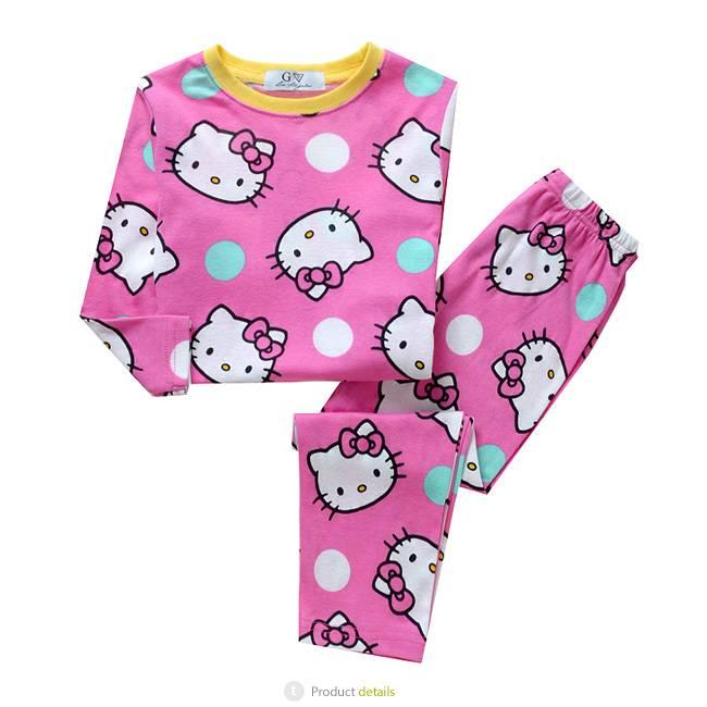62f30e1898a Kinderpyjama's - Hello Kitty Meisjes Pyjama - roze / geel