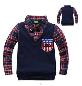 Jongenskleding Sweater Vest met lange mouwen - blauw