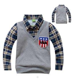 Jongenskleding Sweater Vest met lange mouwen - grijs