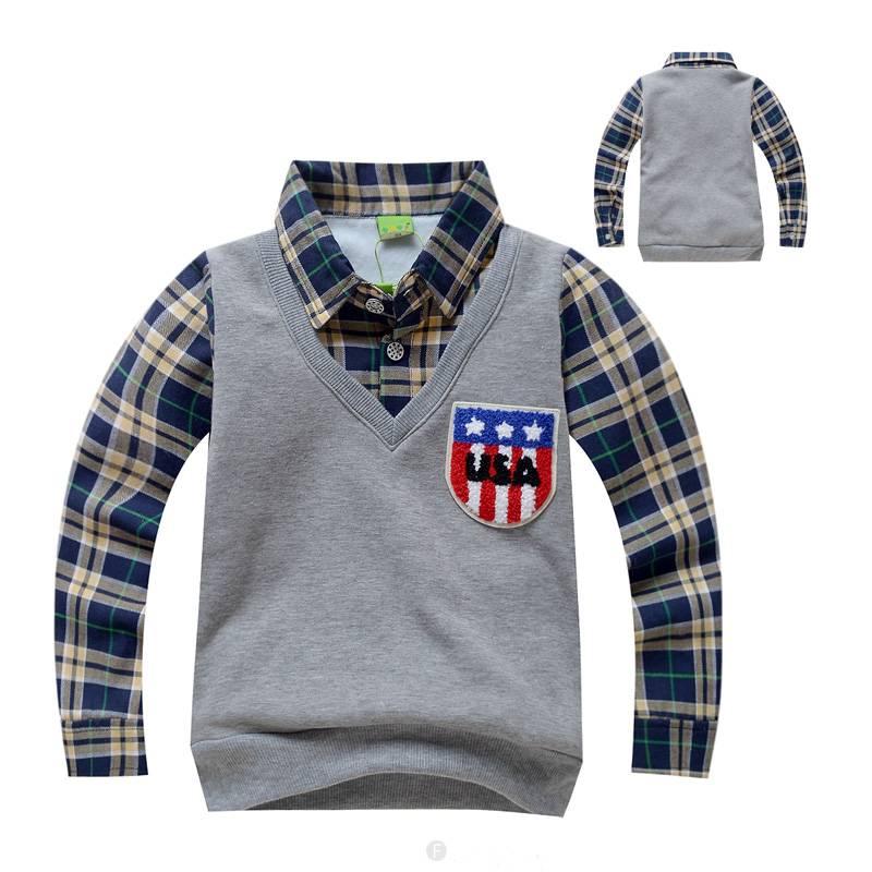 Kinderkleding Jongens.Kinderkleding Jongens Sweater Vest Met Lange Mouwen Grijs