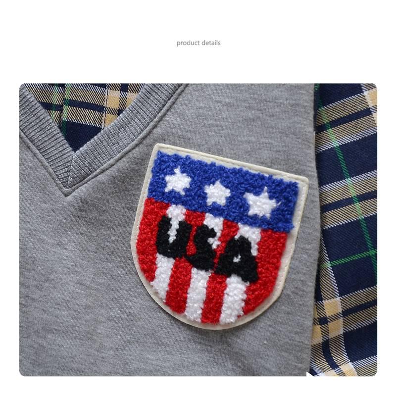 Jongenskleding Jongens Sweater Vest met lange mouwen - grijs