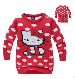 Meisjeskleding Hello Kitty Trui - rood
