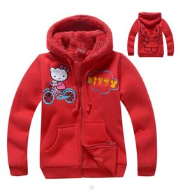 Meisjeskleding Hello Kitty Sweatvest - rood