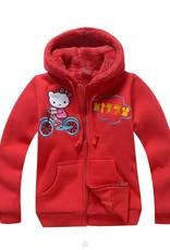 Meisjeskleding Hello Kitty Meisjes Sweatvest - rood