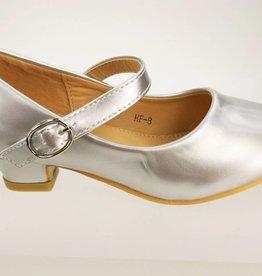Meisjesschoenen Spaanse schoentjes - lak - zilver