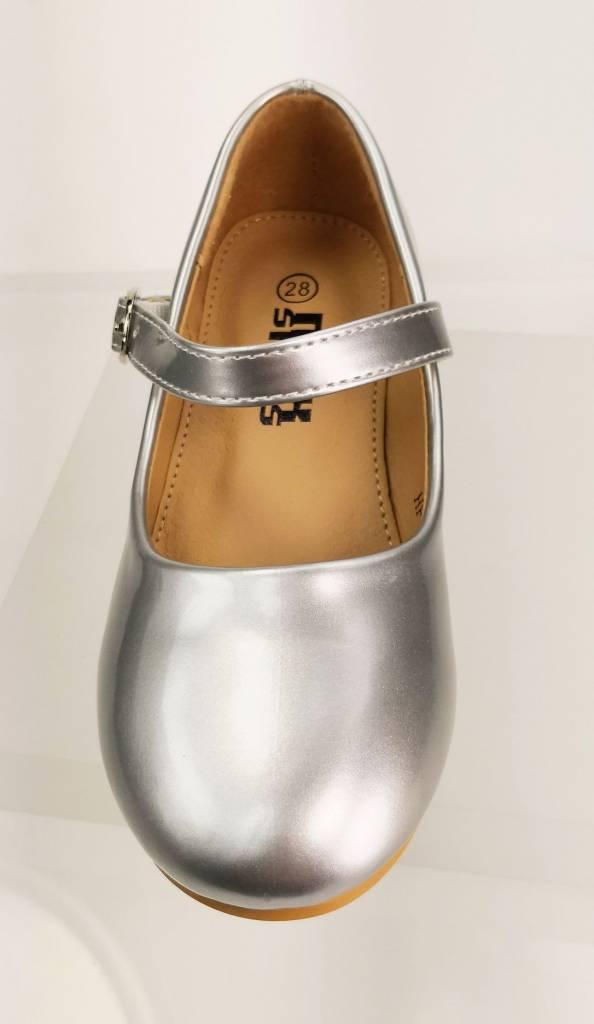 Meisjesschoenen Meisjesschoen - Pumps - lak - zilver