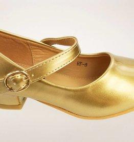 Meisjesschoenen Spaanse schoentjes - lak - goud