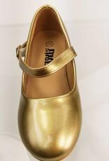 Meisjesschoenen Meisjesschoen - Spaanse schoentjes - lak - goud