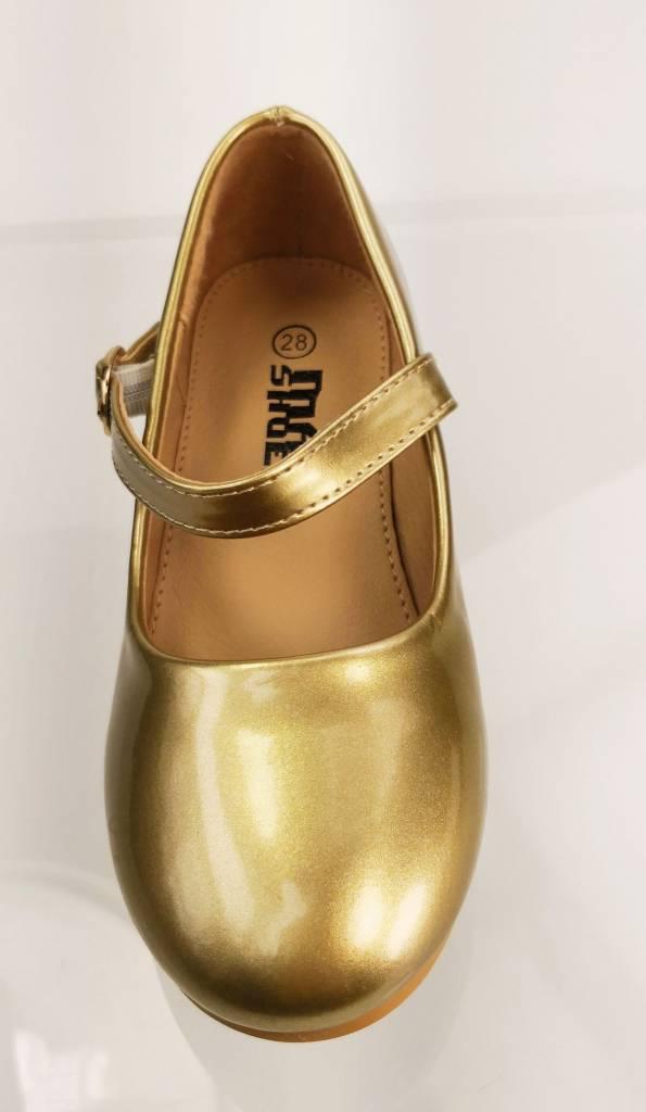 Meisjesschoenen Meisjesschoen - Pumps - lak - goud